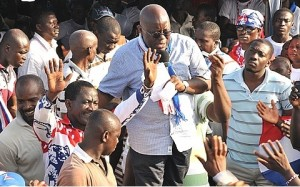 akufo addo mobbed by crowd