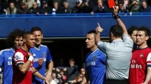 Kierran red carded